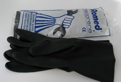 Picture of Γάντια νεοπρενίου μιας χρήσης Romed Small
