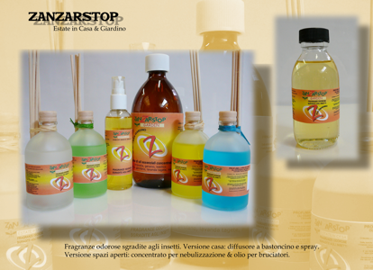 Picture of ZANZARSTOP AIR REFRESHNER WITH BAMBOO STICKS AND ESSENTIAL OILS OF LEVANDER 100ML