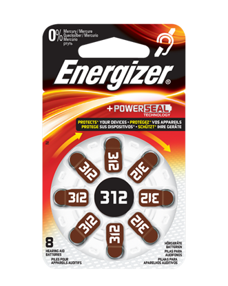 Picture of BATTERY (312) HEADPHONE 8PCS ENERGIZER