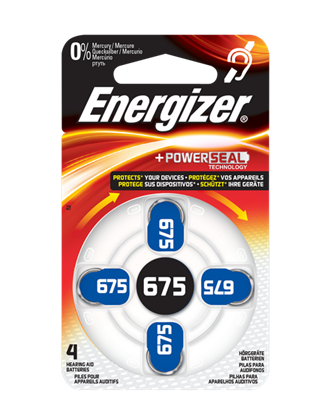 Picture of BATTERY (675) HEADPHONE 4PCS ENERGIZER