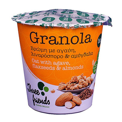 Picture of GRΑΝΟLΑ CUΡ OATS WITH AGAVE, LINCEED & NUTS BIOLOGICAL ITEM 65GR
