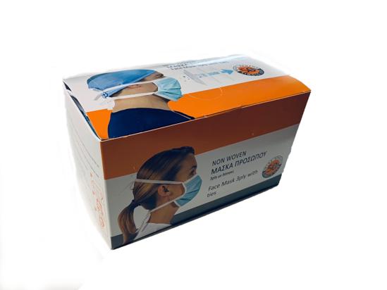 Picture of Χειρουργική Μάσκα Προστασίας MEDICAL 3PLY Με Δέστρες 50 τεμ.
